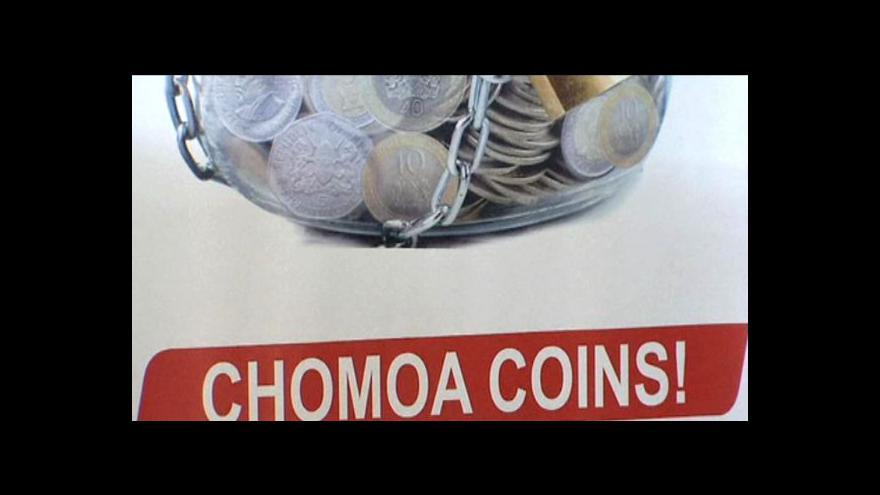 Video Keňa řeší nedostatek drobných mincí