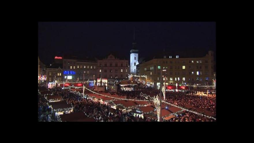 Video Slavnostní rozsvícení vánočního stromku v Brně