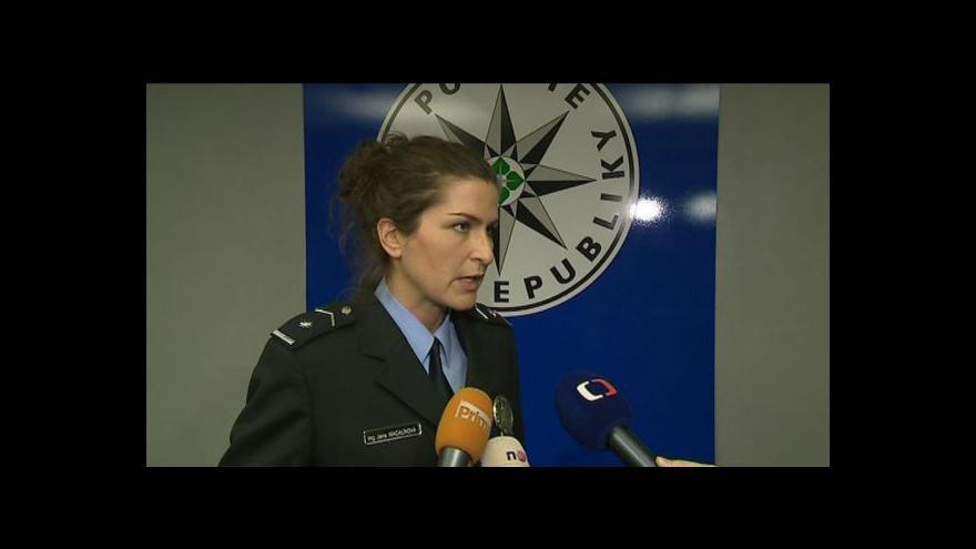 Video Policejní mluvčí Jana Macalíková