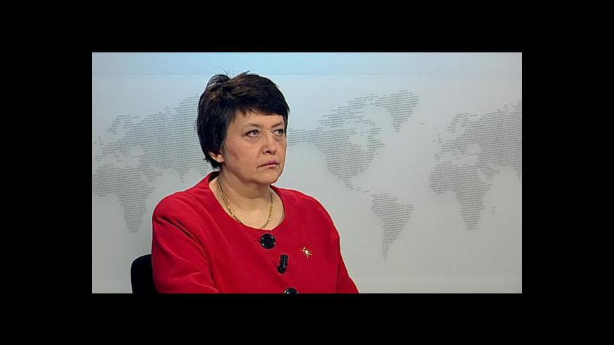 Video Manažerka národního programu Džamila Stehlíková ve Studiu ČT24