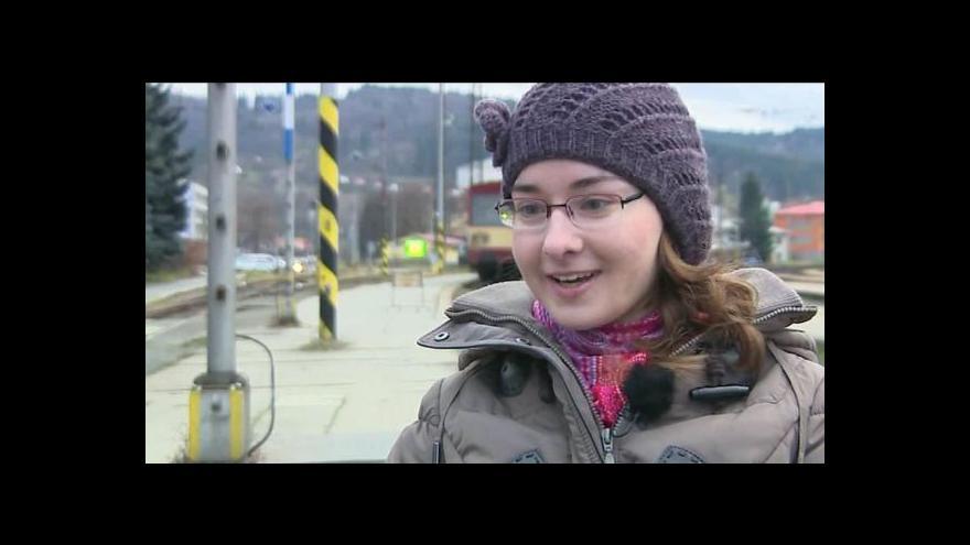 Video Hovoří handicapovaná cestující Zdenka Šebelová