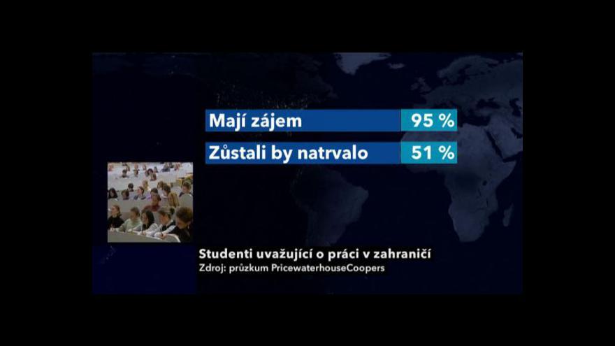 Video Vysokoškolské studenty láká zahraničí