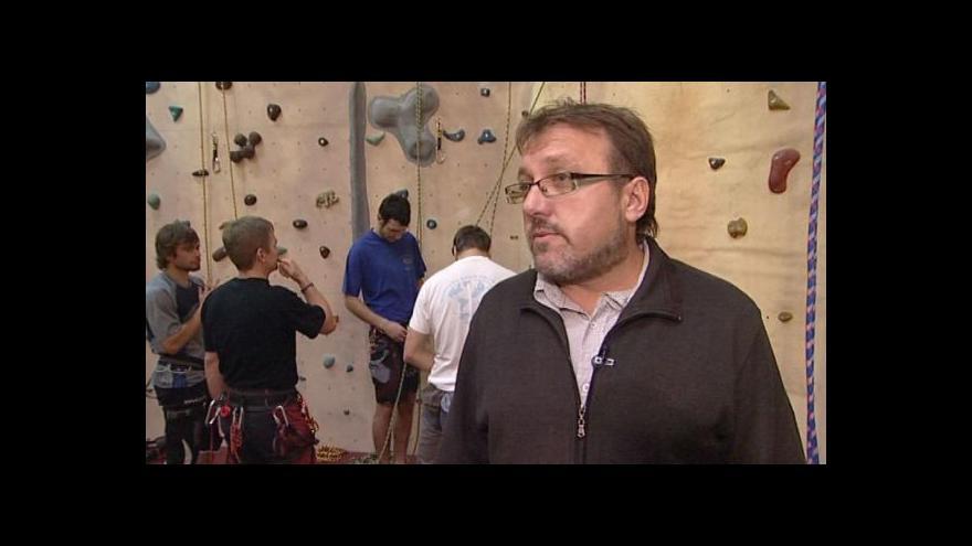 Video Starosta Milotic Josef Levek (KDU-ČSL) o lezecké stěně