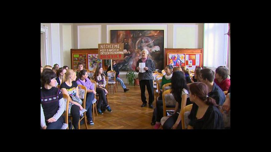 Video Reportáž Kristiny Vrkočové o stávce českobudějovických studentů