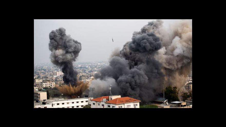 Video Navzdory jednání pokračuje bombardování Gazy a ostřelování Izraele