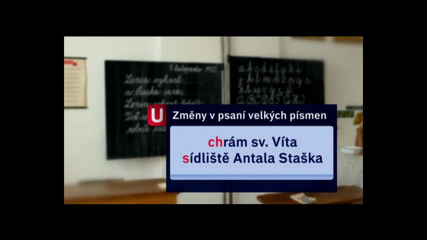 Video Reportáž Ivana Lukáše o psaní velkých písmen