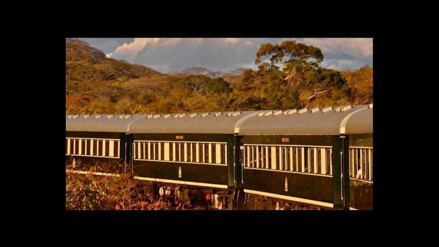Video Železnici v JAR brázdí luxusní vlak
