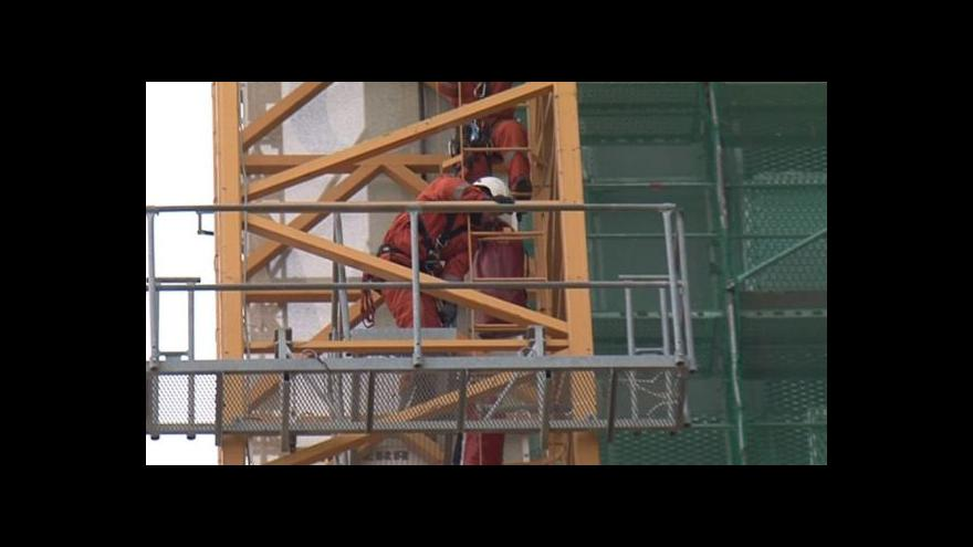 Video Záchrana dělníka z jeřábu (No comment)