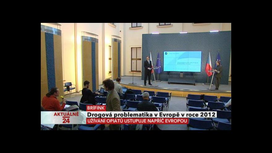 Video Brífink k drogové problematice v Evropě v roce 2012