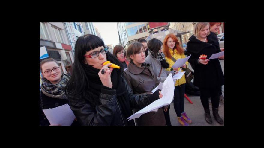 Video Reportáž Veroniky Kabátové o protestu studentů proti radní