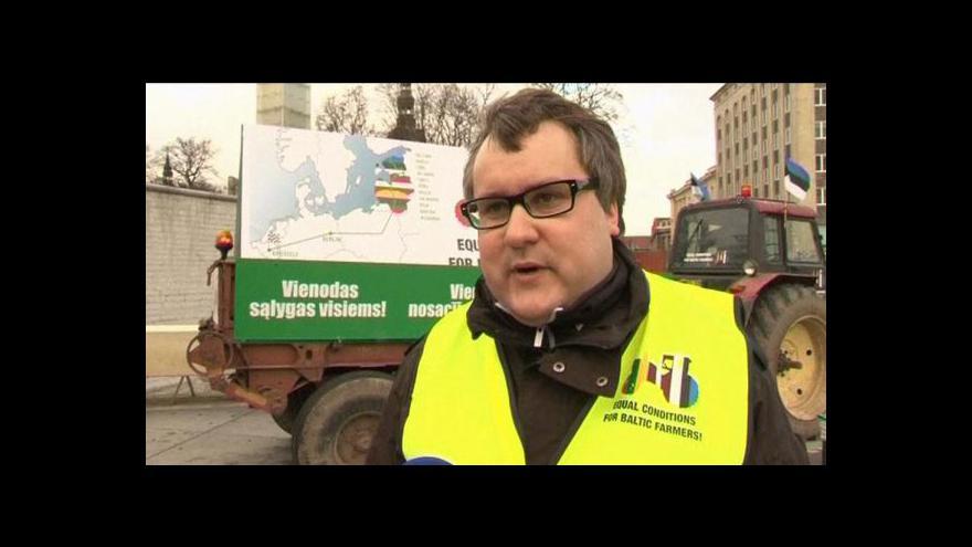 Video Estonským zemědělcům se nelíbí dotační politika EU