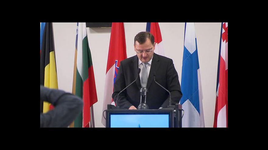 Video Projev Petra Nečase na parlamentním shromáždění NATO v Praze