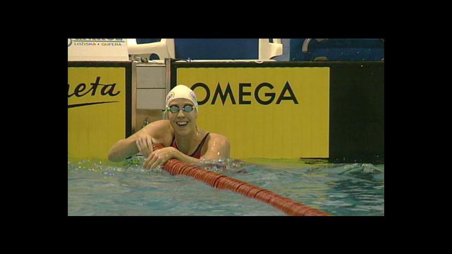 Video Baumrtová zaplavala český rekord na 50 metrů