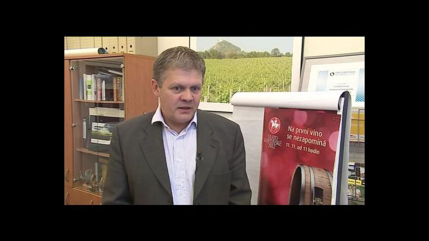 Video Hovoří ředitel Vinařského fondu Jaroslav Machovec