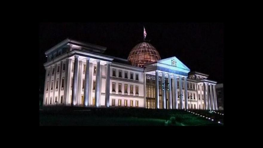 Video V Gruzii začaly politické čistky