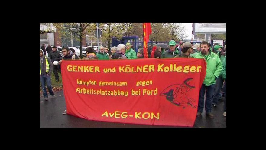 Video Zaměstnanci Fordu protestovali v Německu
