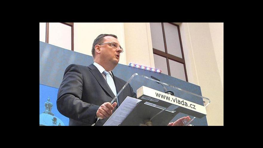 Video Petr Nečas o plánech na revizi programového prohlášení vlády
