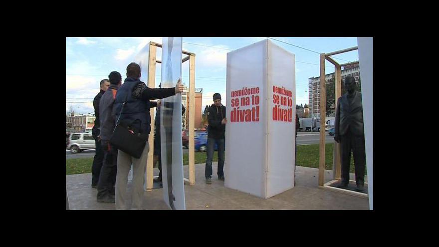 Video Demonstrace odpůrců koalice ve Zlínském kraji