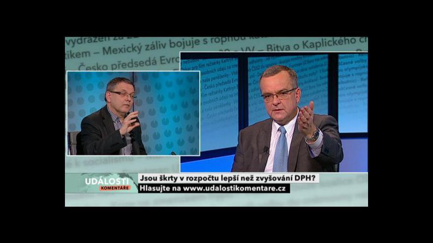 Video Miroslav Kalousek a Lubomír Zaorálek v Událostech, komentářích