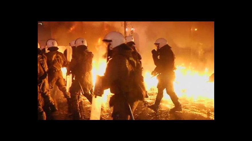 Video Stávka v Řecku vyvrcholila před budovou parlamentu