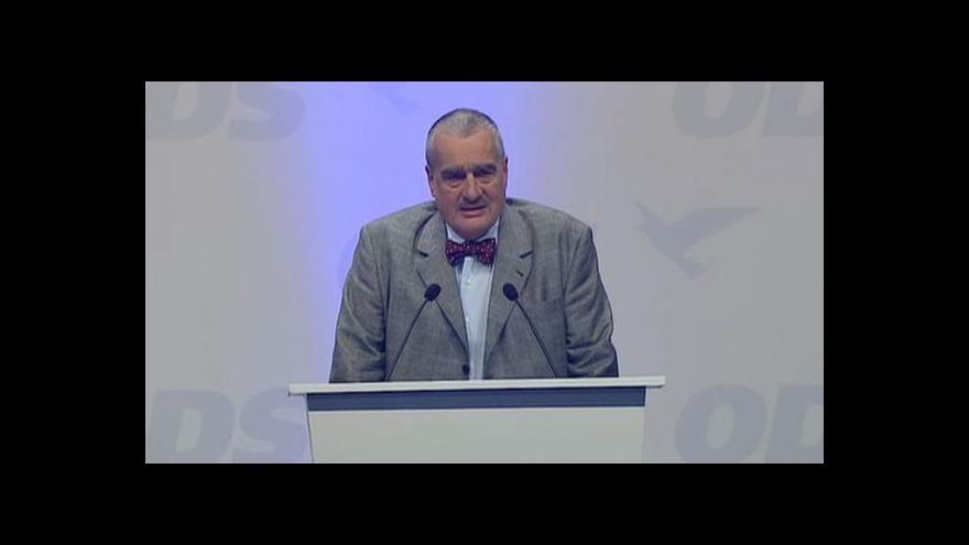 Video Projev Karla Schwarzenberga na kongresu ODS