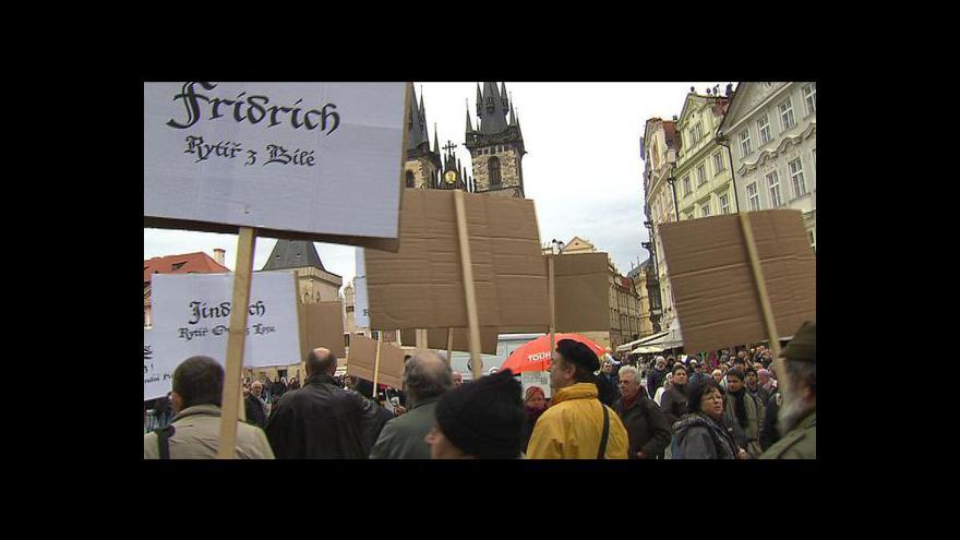 Video Protest proti mariánskému sloupu