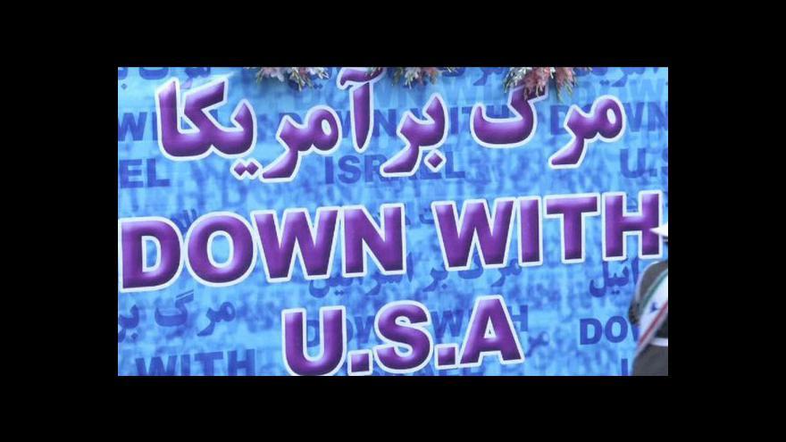 Video Íránci si připomněli obsazení ambasády USA