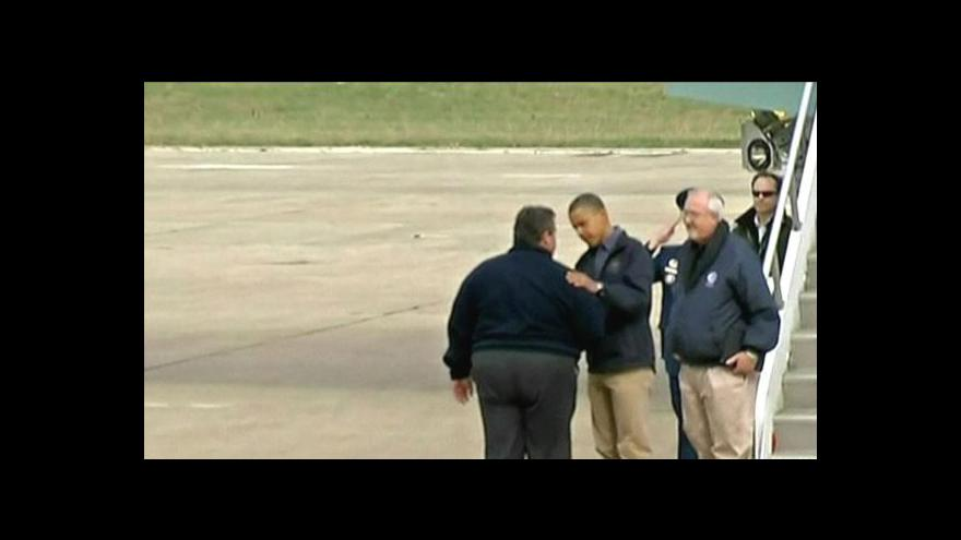 Video Obama přijel do New Jersey