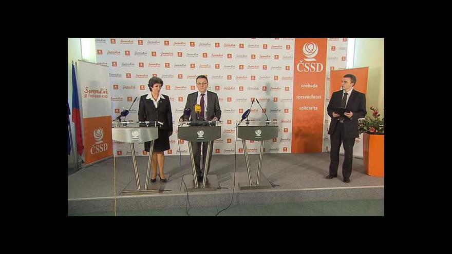 Video ČSSD k jednání vlády a platům lékařů