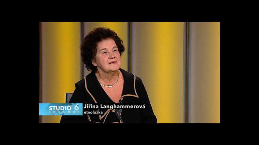 Video Rozhovor s etnoložkou Jiřinou Langhammerovou