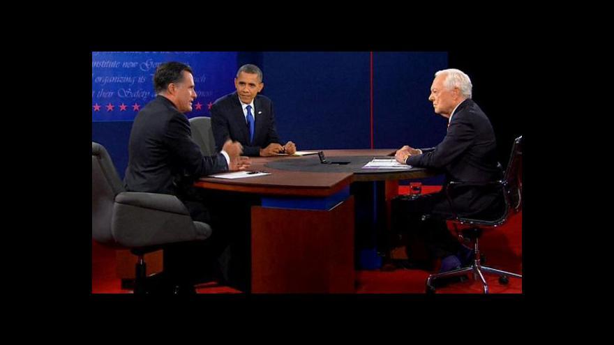 Video Obama a Romney prošli poslední debatou