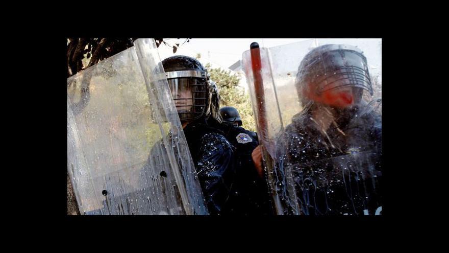 Video Kosovská policie rozehnala demonstraci nacionalistů