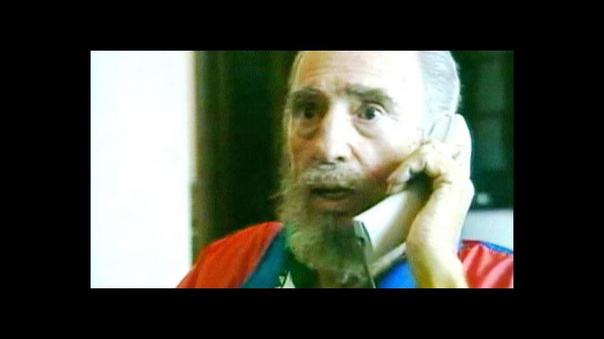 Video Fidel se nevzdává, jednal s venezuelským exprezidentem