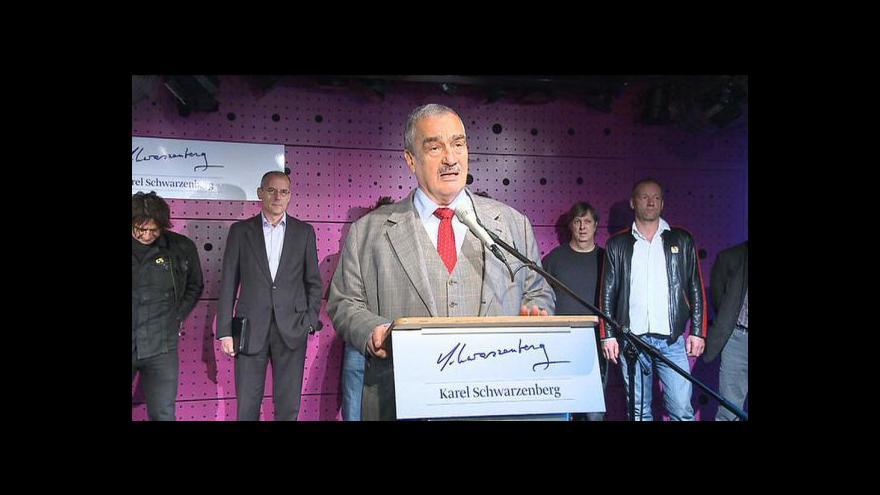 Video Tisková konference Karla Schwarzenberga