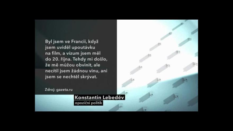 Video Konstantin Lebeděv je ve vazbě