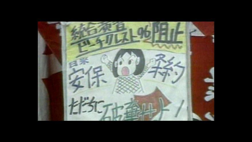 Video Japonci se bouří proti americkým vojákům v zemi