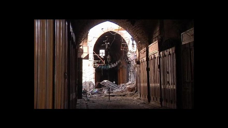 Video Starý bazar v Aleppu je v troskách