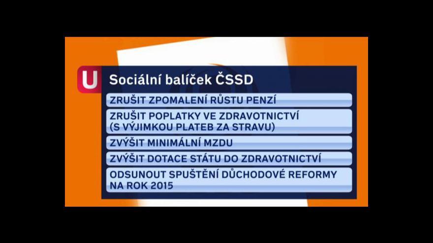Video Lubomír Zaorálek k sociálnímu balíčku ČSSD