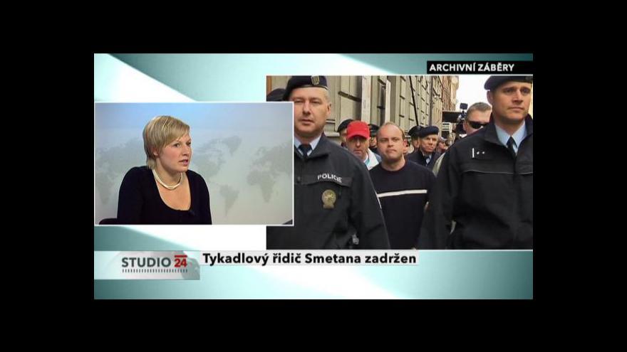 Video Studio ČT24 k zatčení Romana Smetany