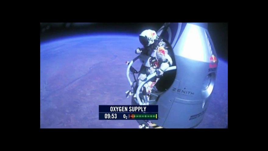 Video Baumgartnerův skok tématem Studia ČT24