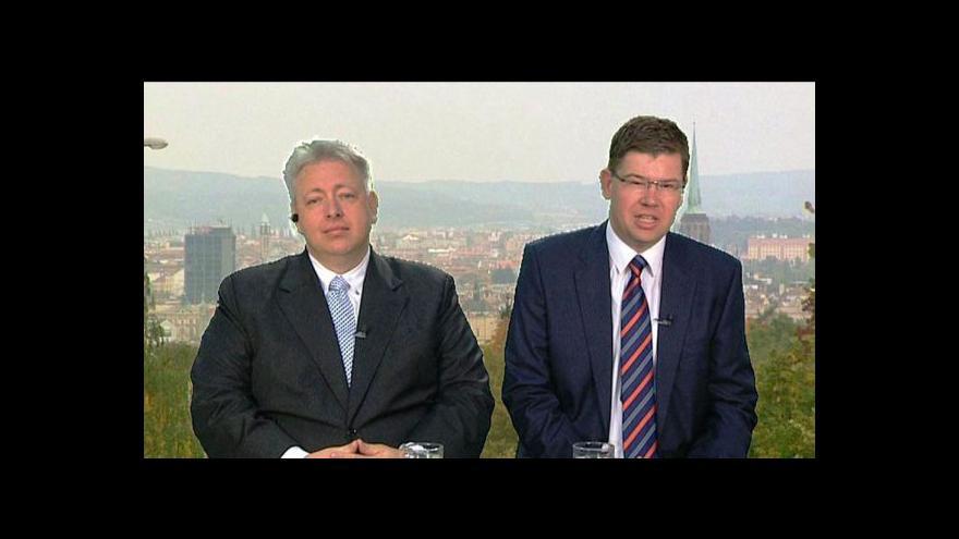 Video Milan Chovanec a Jiří Pospíšil ve Studiu ČT24