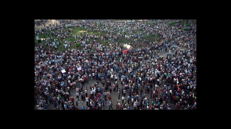 Video Při demonstraci na Tahríru byly zraněny desítky lidí