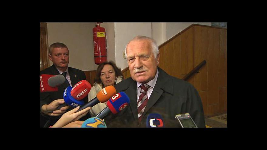 Video Václav Klaus k udělení Nobelovy ceny za mír