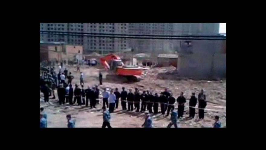 Video Číňané nedobrovolně přicházejí o domovy