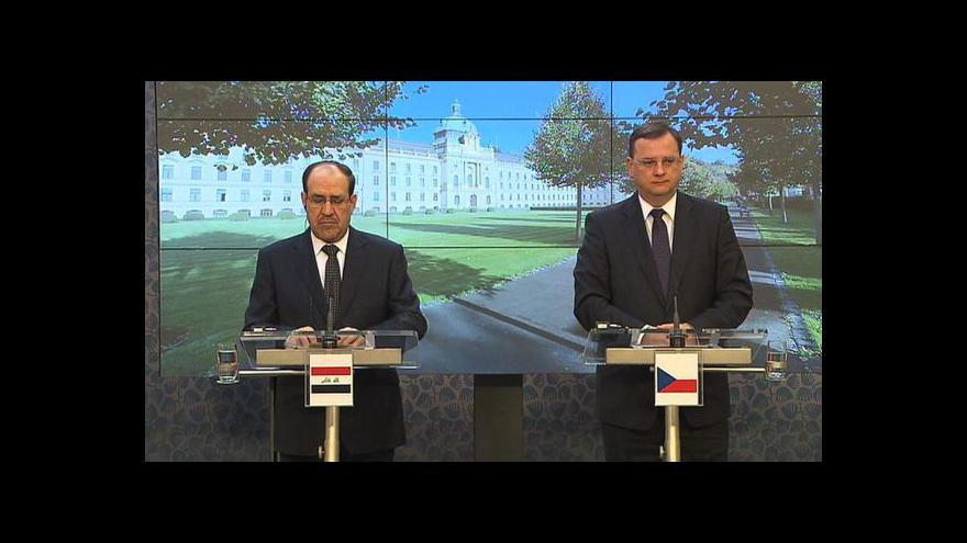 Video Brífink po jednání s iráckým premiérem