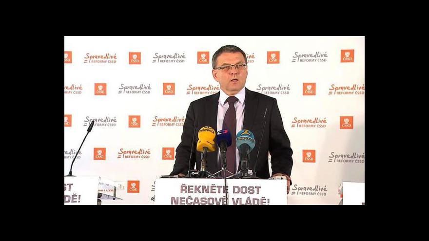 Video Brífink ČSSD k penzijní reformě a ke kauze lobbisty Marka Dalíka