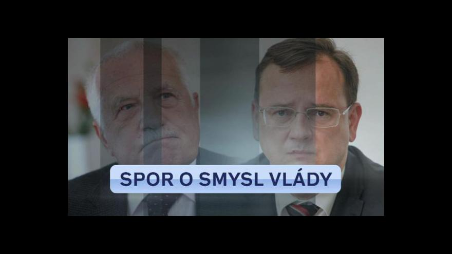 Video Klaus proti kabinetu Petra Nečase