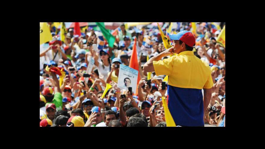 Video Venezuela volí hlavu státu