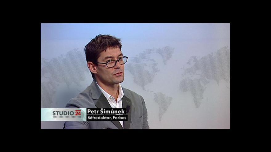 Video Šéfredaktor Petr Šimůnek k žebříčku Forbes