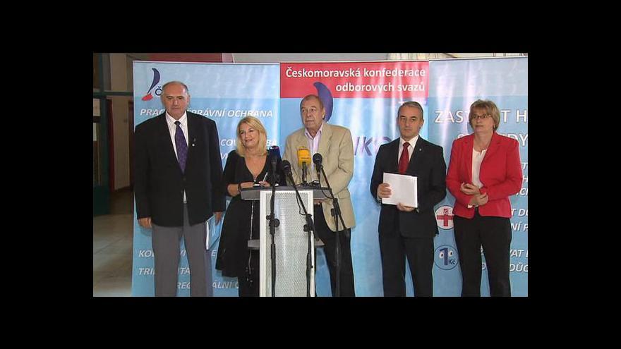 Video Brífink ČMKOS ke krajským a senátním volbám